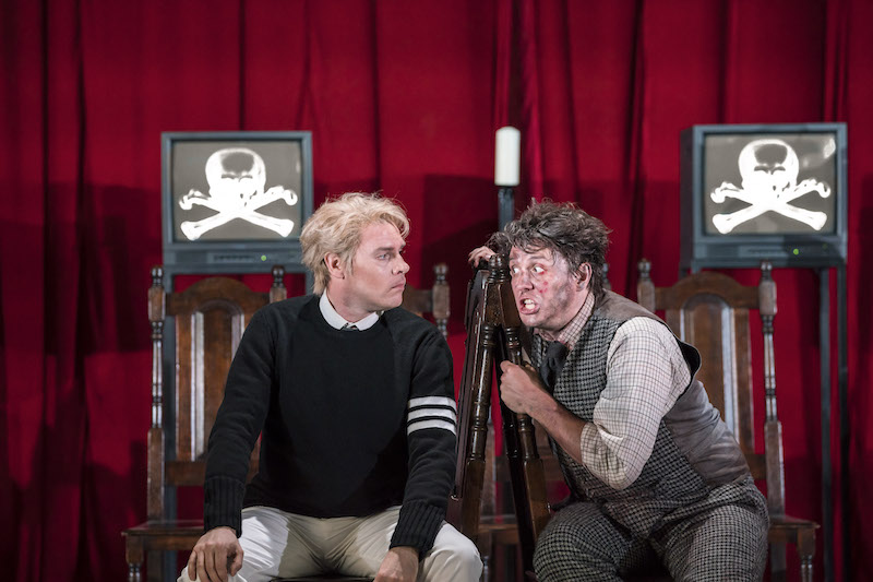 Benjamin Hulett as Tamino and Jonathan McGovern as Papageno (c)Johan Persson