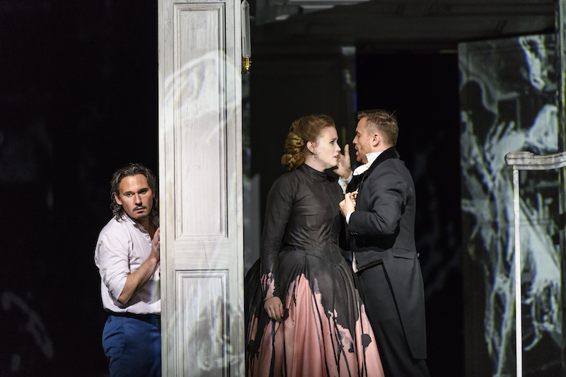 Mariusz Kwiecień as Don Giovanni Rachel Willis Sørensen as Donna Anna Pavol Breslik as Don Ottavio (c) Bill Cooper
