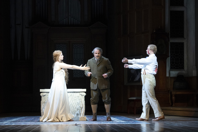 Mélisande (Christina Gansch), Golaud (Christopher Purves) and Pelléas (John Chest) Richard Hubert Smith