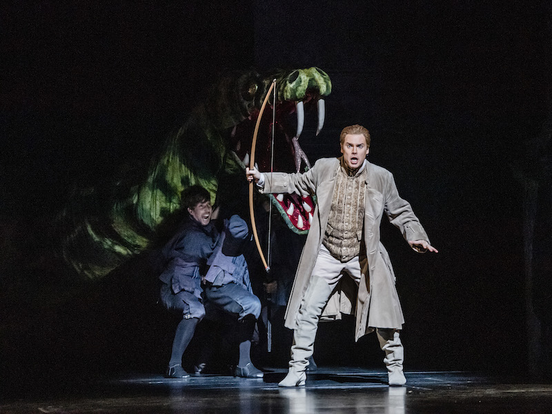 Benjamin Hulett as Tamino in The Magic Flute (C) ROH 2019 & Tristram Kenton