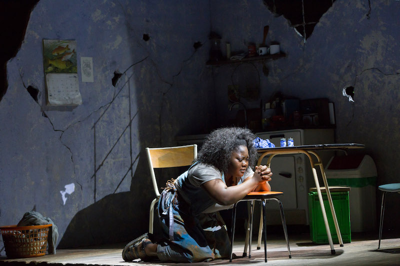 Masabane Cecilia Rangwanasha as Susanna in ROH's Susanna, Linbury 2020
